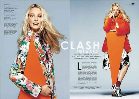 Contempory Clashing Editorials - The Sunday Times Style Issue Stars Melissa Tammerijn