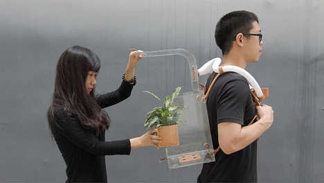 Wearable Eco Air Cleaners - This Wearable Planter Will Keep Your Air Clean and Pollution Out