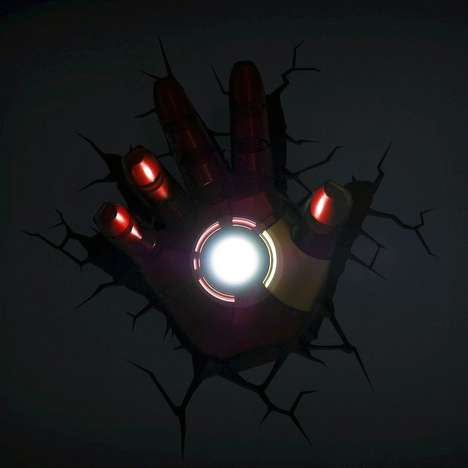 Superhero 3D Lights - Your Kid Can Fall Asleep to the Glow of the Iron Man Hand 3D Nightlight