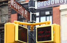Interactive Robot Street Signs - This Cool Street Signal Reacts to Pedestrians