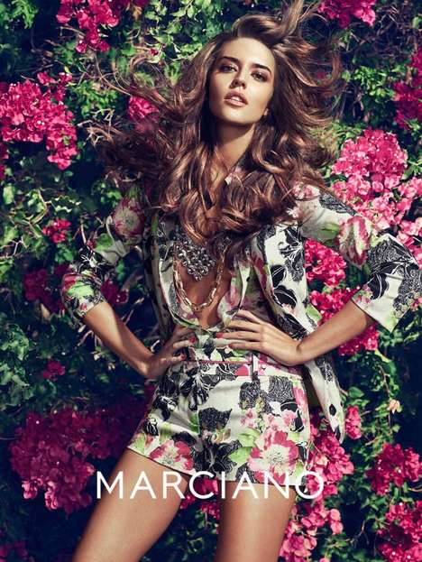 Exotic Sun-Soaked Fashion Ads - The Guess by Marciano SS14 Campaign Stars Clara and Heather