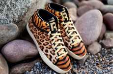 28 Tiger-Themed Fashions - From Exotic Junglistic Kicks to Wild Sequined Leggings