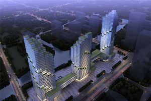 The Shaoxing Project Will Add Three Green Stepped Skyscrapers