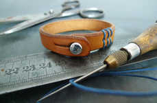 Custom Leather Denim Bracelets