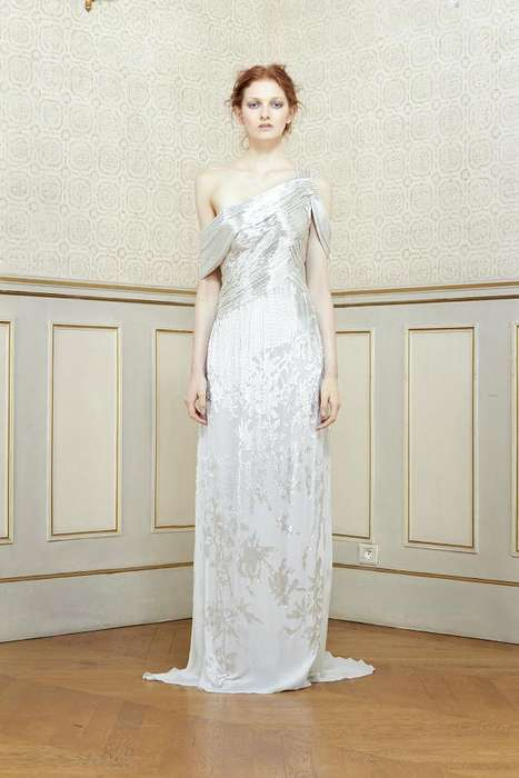 Whimsical Shakespearean Fashion - The Rami Al Ali Spring 2014 Collection is Inspired by Ophelia
