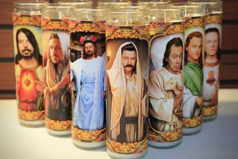 Sacred Celebrity Candles - Etsy Seller DMAGIC Creates These Sacrilegious Celebrity Candles