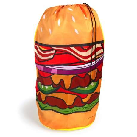 Delectable Laundry Sacks - The Hamburger Hamper Laundry Bag is Perfect for Fast Food Lovers