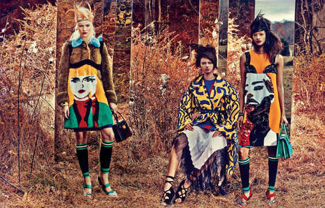 Eccentric Glamazon Editorials - The W Magazine