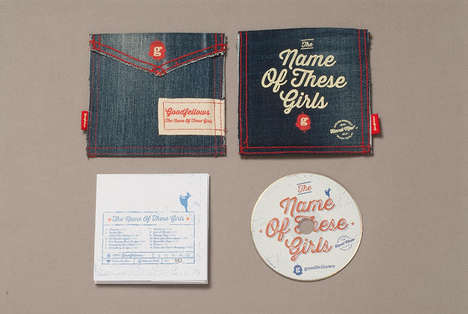 Second-Hand Denim Branding - The Name of These Girls Packaging Dresses the Product Like a Person