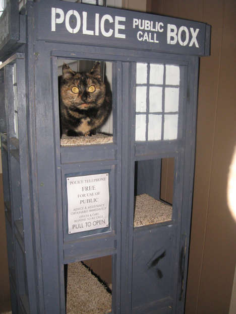 Spaceship-Shaped Feline Furniture - The Dr. Who Cat Furniture Will Keep Your Cat Safe