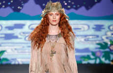 Whimsical Victorian-Themed Ensembles - The Anna Sui Spring 2014 is a Wonderland of Fashion