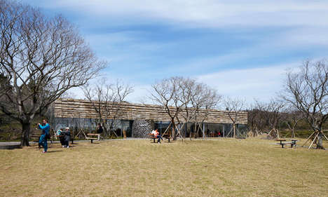 Black Cement-Inspired Teahouses - The Tea Stone Museum + Cafe Building Reflects the Sky & Nature