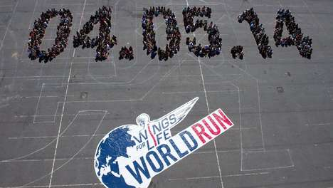 Simultaneous Worldwide Benefit Runs - The Wings for Life Run Means Running for Those Who Can't