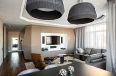 Futuristically Angular Homes - Geometrix Designs' Moscow Apartment is Straight Out of the Futu