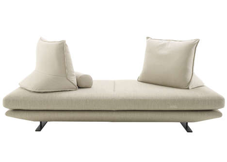 Propped Pyramidal Pillows - The Prado Sofa Comes with Stable Movable Cushions as Adaptable Backrests