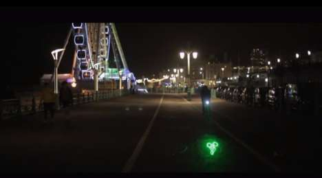 Laser Bike Safety Projections - The Blaze Bike Laserlight Makes People Aware of Bikers on the Road
