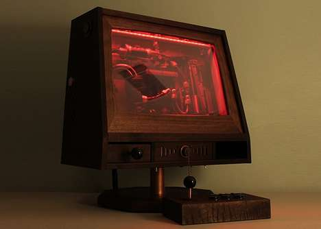 Walnut Wood Arcades - The R-Kaid Revelation is a Wooden Gaming Machine
