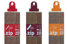 Compressed Protein Packaging - The .Zip Sublimated Forcemeat Wrappers Lighten Consumers' Loads