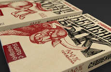 Hatched Snack Packs - Shmat Meat Packaging Has a Rough Aesthetic to Appeal to the Rugged Man