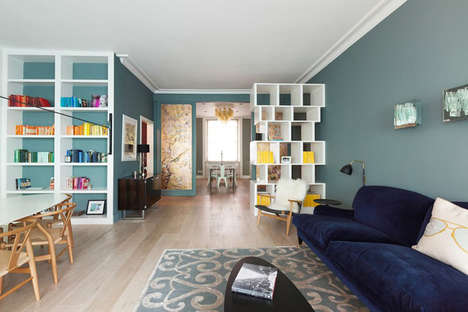 Color-Coordinated Apartments - This London Apartment Has an Exuberant Color Palette