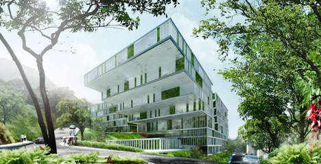 Environmentally Prioritized Schools - The Revitalized Island School has 28,000 Sqm of Greenery