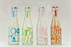 Cocktail Sodas Packaging Features Fun Hand-Scrawled Typefaces