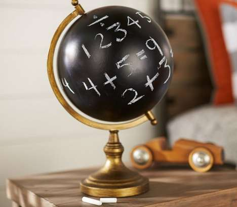 Educational Chalkboard Globes - This Chalkboard Globe Lets Kids Learn Creatively