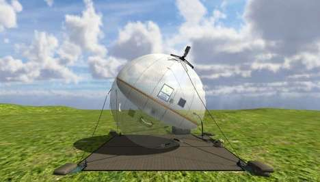 Inflatable Mobile Satellites - The GATR Meter Antenna System Resemble Big Beach Balls