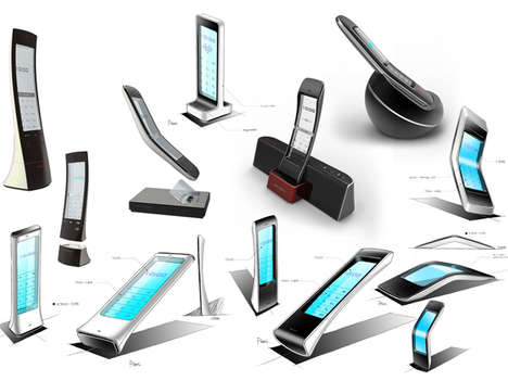 Transparent Desktop Telephones - The Callmate is a Modernized Device for the Contemporary Office