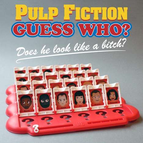 Gritty Board Game Makeovers - Joe Stone Made This Pulp Fiction Guess Who for a Friend