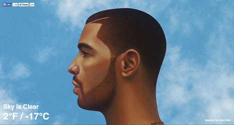 Hilarious Rapper Weather Forecasts - This Drake Weather Website Tells You the Current Forecast
