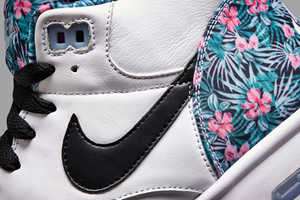 These Floral Print NIKE Air Trainer 1's are Pro Bowl Themed