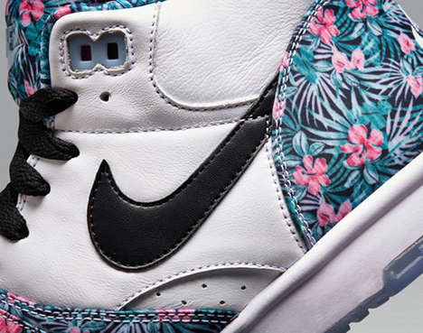 Pro Bowl-Inspired Footwear - These Floral Print NIKE Air Trainer 1