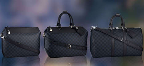Moody Monogrammed Couture Bags - The Louis Vuitton Damier Cobalt SS 2014 Line is a Tad Blue