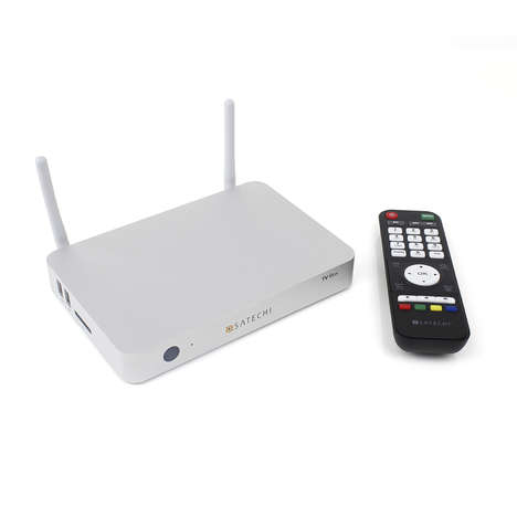 Wireless Streaming TV Boxes - The Satechi Smart TV Box is Ideal for Streaming Media Onto Your TV