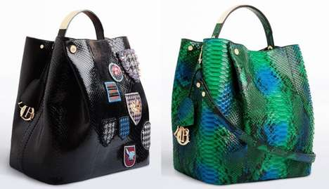 Glamorous Gator Skin Bags - The Diorific Bag Collection Adds Pops of Color and Femininity