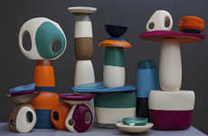 Smooth Colorblocked Housewares - The Dinosaur Designs Modern Tribal Collection