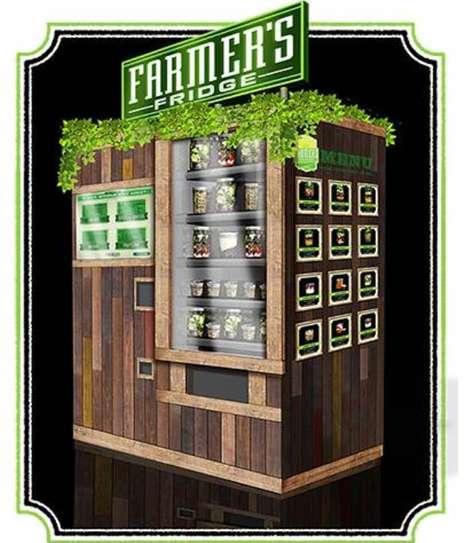 Salad Vending Machines - The Farmer's Fridge Provides Healthy, Eco-Friendly Food On-The-Go
