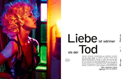 Provocative Cinematic Editorials - The Interview Germany February 2014 Issue Stars Lindsey Wixson