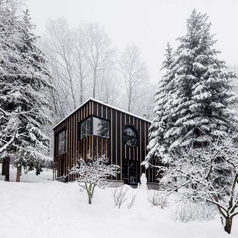 Chic Minimalist Cabins - This Modern Cabin Designed by Bence Turanyi was Built in Two Days