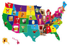 Signature State Cocktails - These Iconic Cocktails Correlate States to Spirits