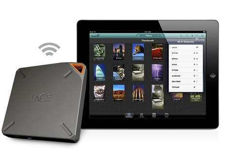 Simultaneous Sharing Storage Drives - The LaCie Fuel is a New Wireless Storage Drive