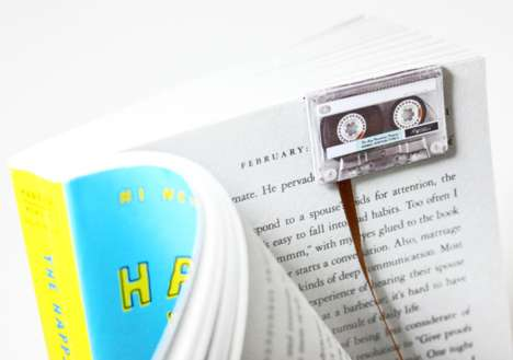 Nostalgic Music Bookmarks - Never Lose Your Page with the Cassette Tape Bookmark