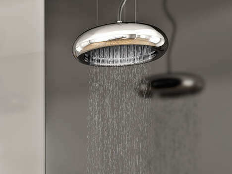 Pendant Lamp-Like Showers - The Sospesa Showerhead is Elegantly Deceptive