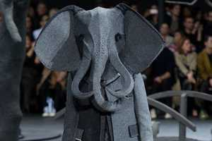 Thom Browne Gets Feral with Headgear at the Fall 2014 Menswear Show