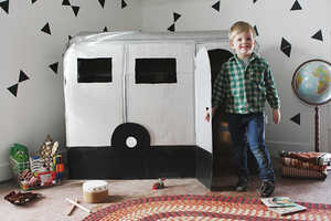 This DIY Cardboard Camper Playhouse Allows Children to Act Like Adults