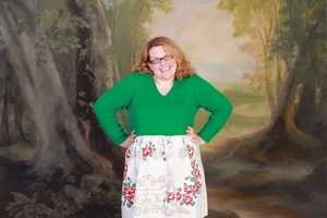 This DIY Tablecloth Sweater Dress is Perfect for Vintage Fashionistas