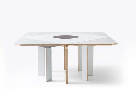 Space-Saving Tables - This Extension Table Features Built-In Trivets