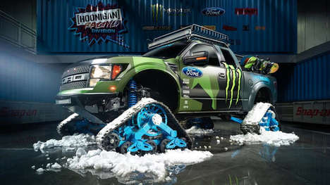 Snow-Conquering Pickups - The Ford RaptorTRAX Takes on Winter with Ease