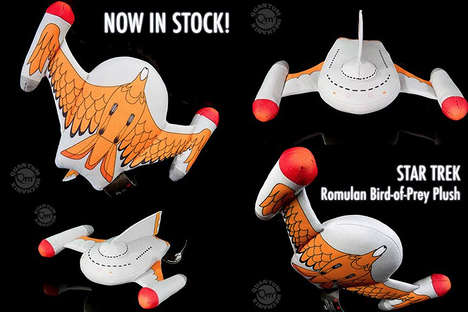 Villainous Spaceship Plushes - This Romulan Ship is Cute and Cuddly